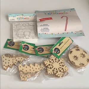 Christmas holidays/create & color ornaments kit
